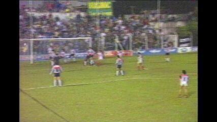 Pouso Alegre 3 x 3 Atlético-MG, em 1990