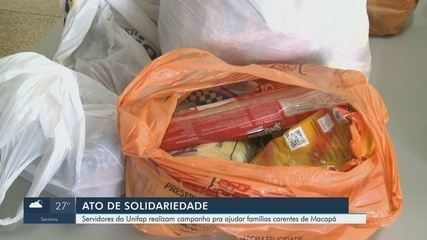 Campanha arrecada alimentos e produtos de limpeza a famílias carentes