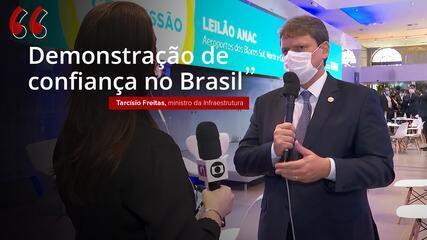 'Demonstração de confiança no Brasil', diz ministro sobre arrecadação com leilão de aeroportos