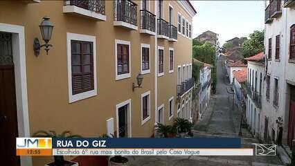Rua Do Giz, no Centro Histórico de São Luís, foi eleita a sexta rua mais bonita do Brasil