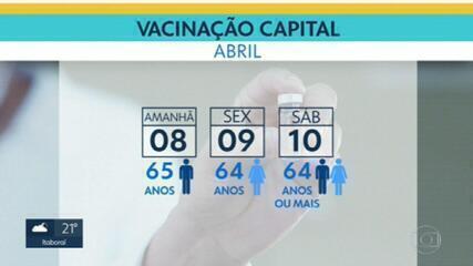 Mais de 1,4 milhão de pessoas receberam a primeira dose da vacina contra Covid no RJ