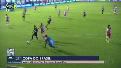 Tombense perde para o Vasco e cai na segunda fase da Copa do Brasil