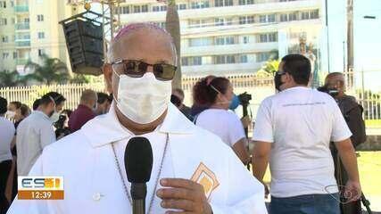 Imagem de Nossa Senhora visitou funcionários e pacientes de hospital na Serra