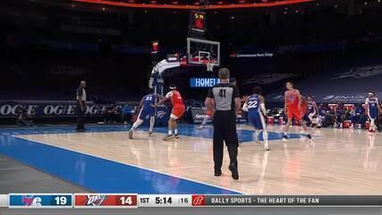 Melhores Momentos: Philadelphia 76ers 117 x 93 Oklahoma City Thunder pela NBA
