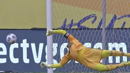 Confira as defesas de Diego Alves contra o Palmeiras