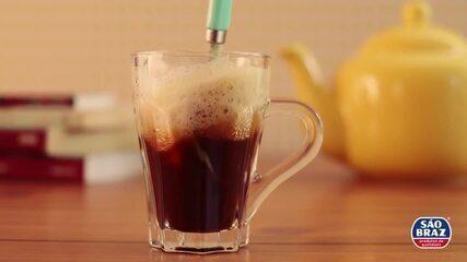 Receita de leite espumado com café