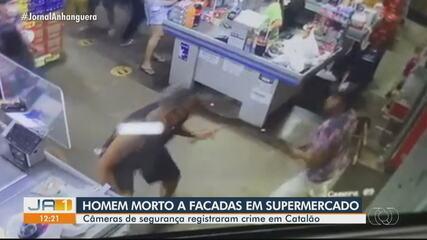 Homem é morto a facadas em supermercado de Catalão
