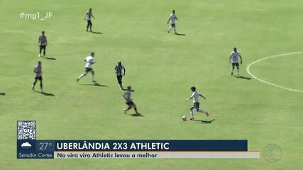 No vira-vira, Athletic bate Uberlândia na estreia de Brancão