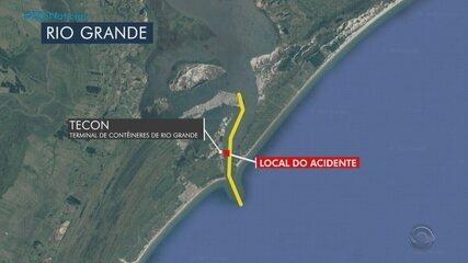 Porto de Rio Grande interrompe operações após acidente entre barco e navio