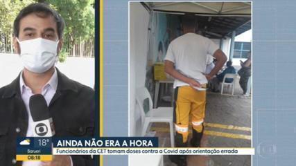 Agentes da CET são vacinados contra a Covid-19 em SP após erro da Secretaria Municipal da Saúde