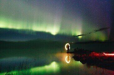 Veja um vídeo com o depoimento do jovem caçador de auroras boreais