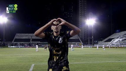 Os gols de ABC-RN 1 (4) x (1) 1 Botafogo pela 2ª fase da Copa do Brasil