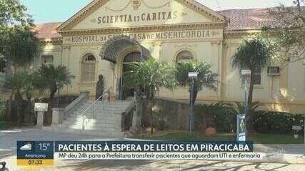 MP dá 24h para que pacientes de Piracicaba à espera por leitos sejam transferidos