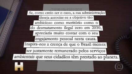 Em carta a Biden, Bolsonaro promete eliminar desmatamento ilegal na Amazônia até 2030