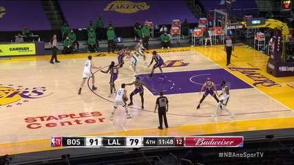 Melhores momentos: Los Angeles Lakers 113 x 121 Boston Celtics, pela NBA
