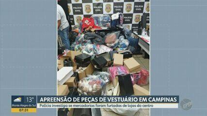 Polícia apreende 1,1 mil peças de vestuário em casa da região do Campo Belo em Campinas
