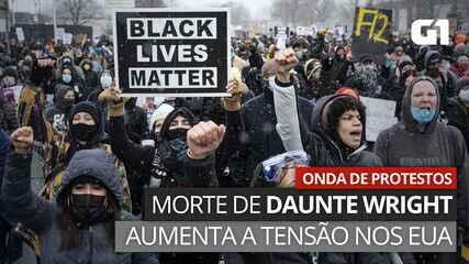 VÍDEO: morte de Daunte Wright gera protestos nas ruas e aumenta tensão nos EUA