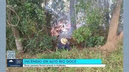 Duas pessoas são presas por provocar incêndio no Alto Rio Doce