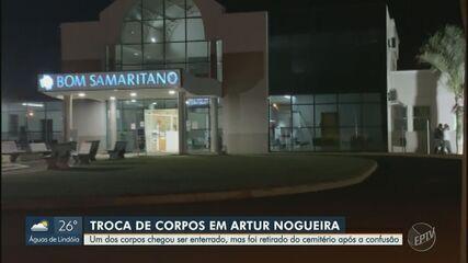Família de idoso morto percebe troca de corpos em Artur Nogueira e polícia investiga