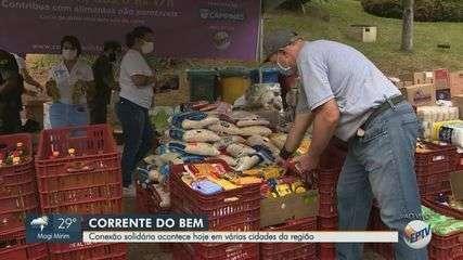 Terceira edição do Conexão Solidária emociona doadores em frente à Prefeitura de Campinas