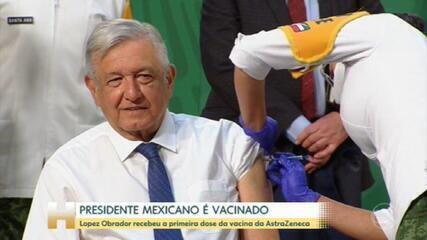 Presidente do México toma primeira dose da vacina contra Covid-19