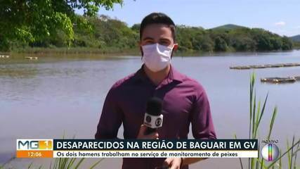 Dois homens que trabalham com monitoramento de peixes em Valadares estão desaparecidos