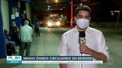 Transporte público em Resende continua prejudicado 24 horas após início de greve