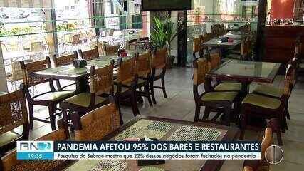 Pandemia afetou 95% dos bares e restaurantes