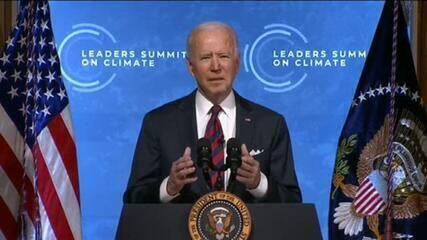 VÍDEO: Joe Biden discursa na Cúpula de Líderes sobre o Clima