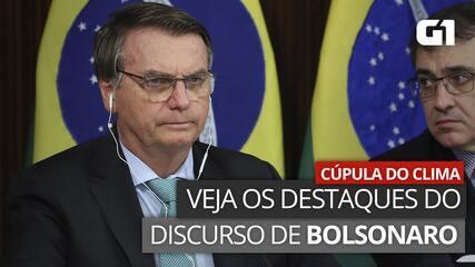 VÍDEO: Veja destaques do discurso de Bolsonaro na Cúpula de Líderes sobre o Clima