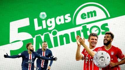 5 ligas em 5 minutos: Bayern pode levantar troféu, e PSG tem chance de virar líder
