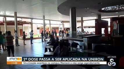 Conexão CBN Amazônia: Porto Velho passa aplicar 2ª dose na faculdade Uniron