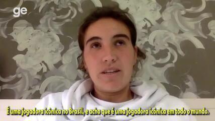"""""""Icônica em todo o mundo"""", diz Mariona Caldentey, meia do Barcelona, sobre Formiga"""