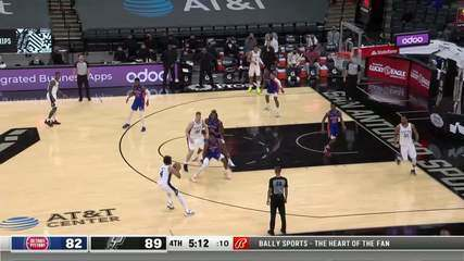 Melhores momentos: San Antonio Spurs 106 x 91 Detroit Pistons pela NBA