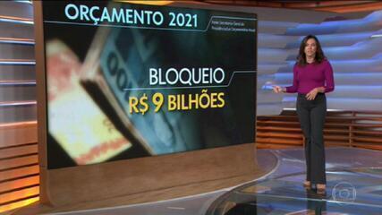 Governo congela R$ 9 bilhões no Orçamento de 2021