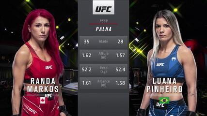 UFC Reyes x Prochazka - Randa Markos x Luana Pinheiro