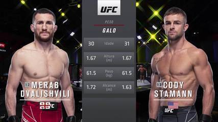 UFC Reyes x Prochazka - Merab Dvalishvili x Cody Stamann