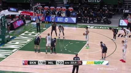 Melhores momentos: Milwaukee Bucks 124 x 118 Brooklyn Nets pela NBA