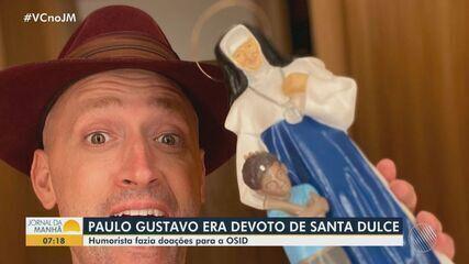 Conheça a ligação do humorista Paulo Gustavo com a Santa Dulce dos Pobres