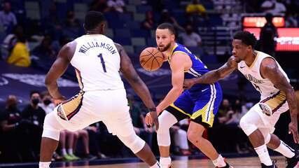 Melhores momentos de Golden State Warriors 103 x 108 New Orleans Pelicans pela NBA