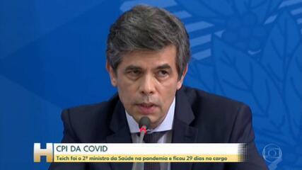 CPI da Covid: Teich diz que deixou o cargo por falta de autonomia e por divergências no uso da cloroquina