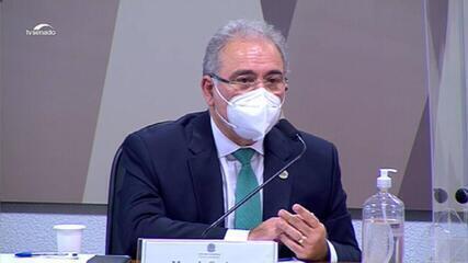 VÍDEO: 'Eu não autorizei distribuição de cloroquina na minha gestão', diz Queiroga