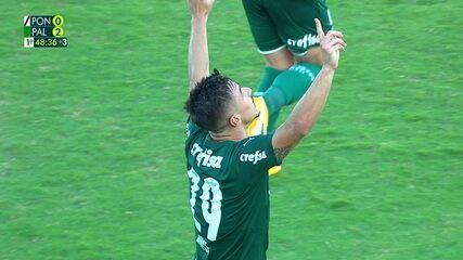 Os gols de Ponte Preta 0 x 3 Palmeiras pela 12ª rodada do Paulistão 2021