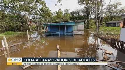 Autazes: Um dos maiores produtores de leite do Amazonas é afetado pela cheia