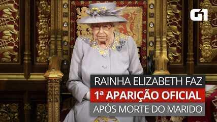 Rainha Elizabeth faz primeira aparição oficial desde a morte do marido
