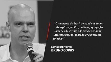 Natuza Nery fala sobre carta que carta que Bruno Covas escreveu dois dias antes de morrer