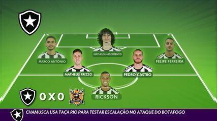 Chamusca usa Taça Rio para testar escalação no ataque do Botafogo