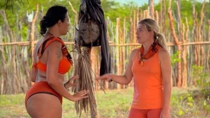 Tribo Carcará volta ao acampamento e, Ariadna e Iris acabam discordando sobre tema importante
