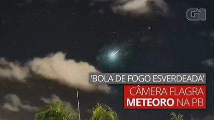 Câmeras flagram passagem de meteoro no céu de João Pessoa