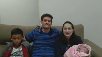 Mãe reencontra filha 24 dias após o parto em Fartura (SP)